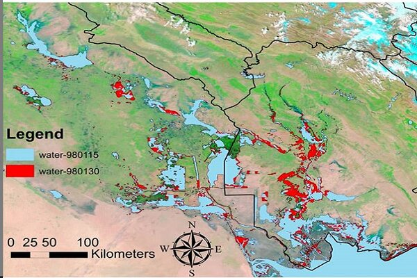 ارائه گزارش برآورد خسارات سیل با دادههای ماهواره به وزارت کشور